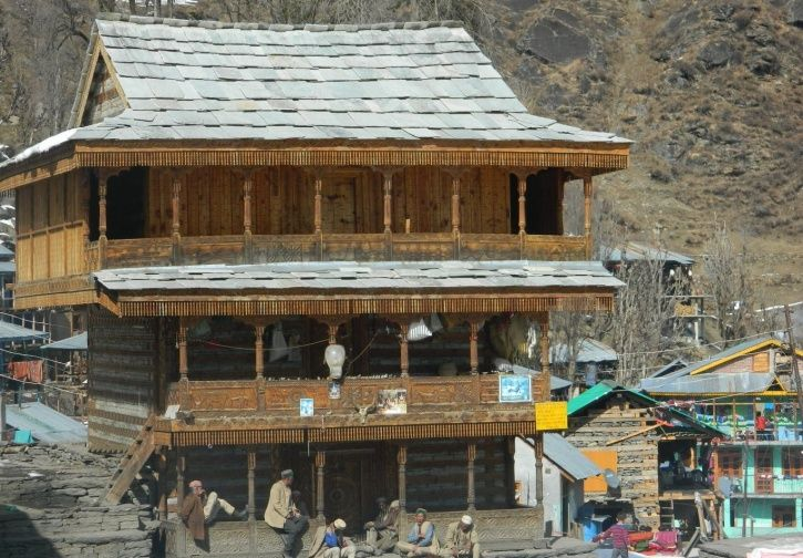 Scenic view of a house in Malana.