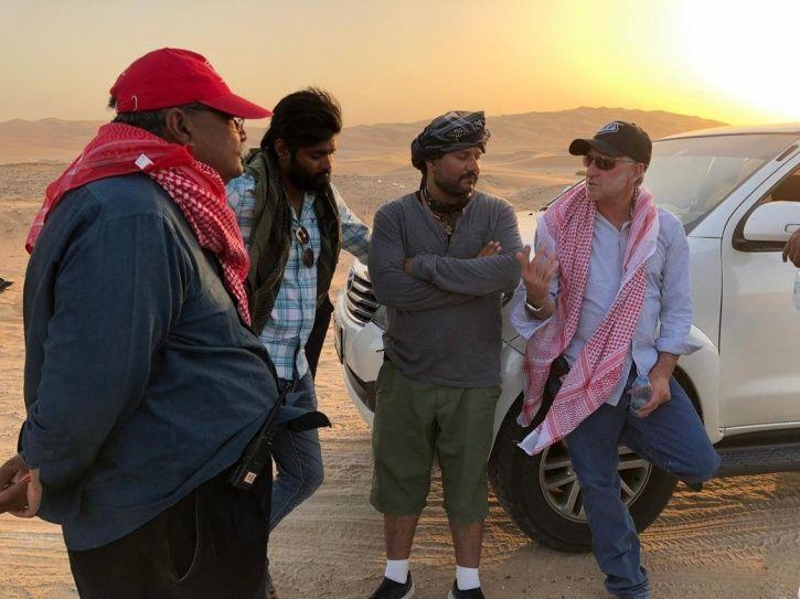 Stunt choreographer with team Tiger Zinda Hai in Abu Dhabi.