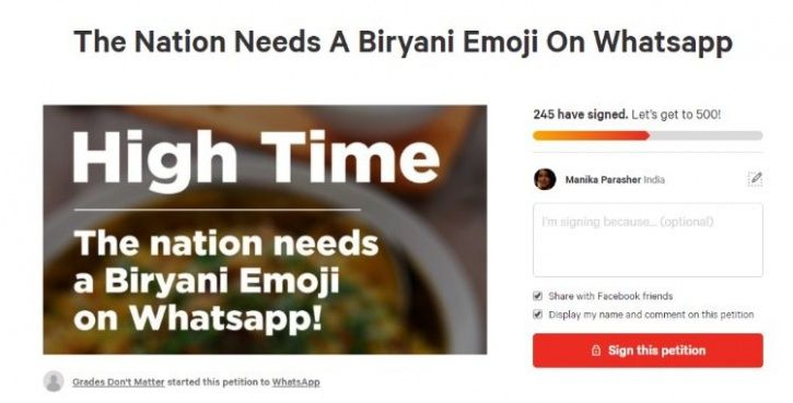 weird petition biryani emoji