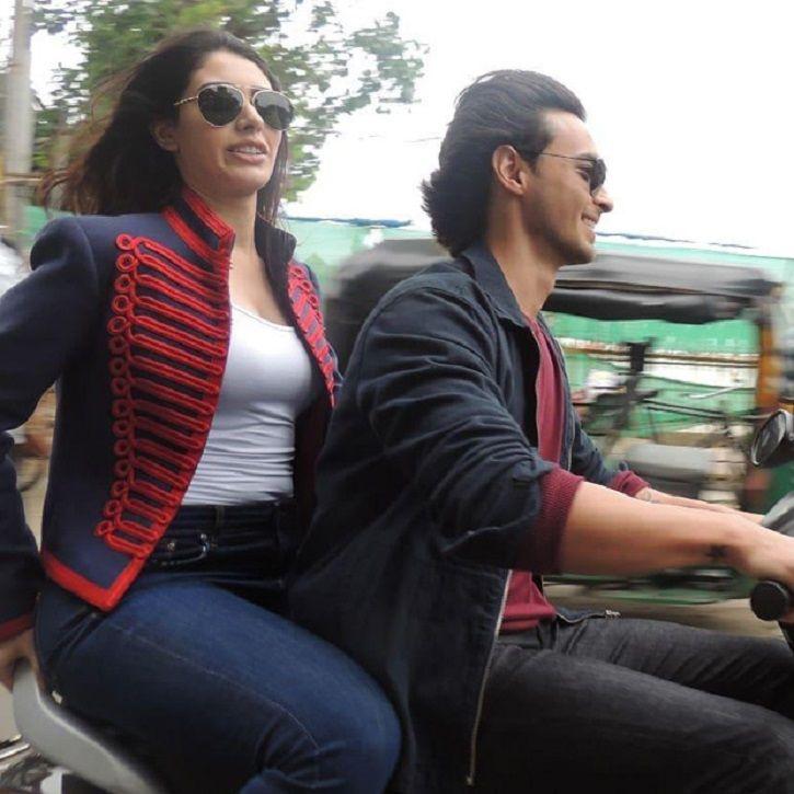 A picture of Aayush Sharma and Warina Hussain.