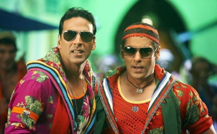 A picture of Akshay Kumar and Salman Khan.