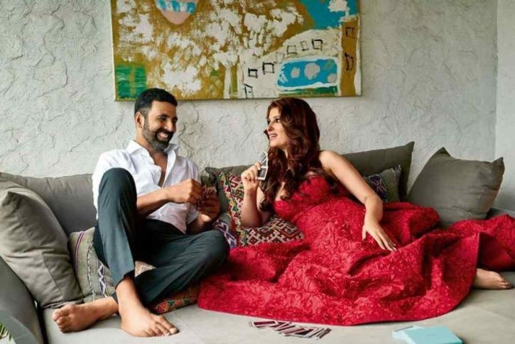 A picture of Akshay Kumar and Twinkle Khanna.