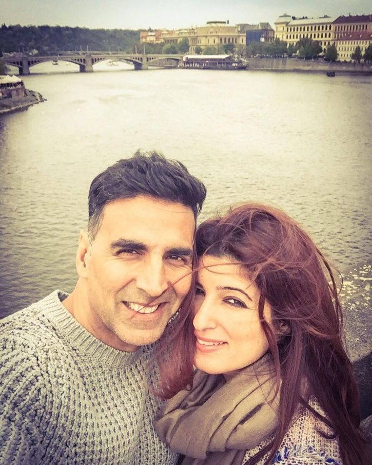A picture of Akshay Kumar and Twinkle Khanna