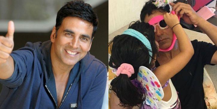 A picture of Akshay Kumar with daughter Nitara.