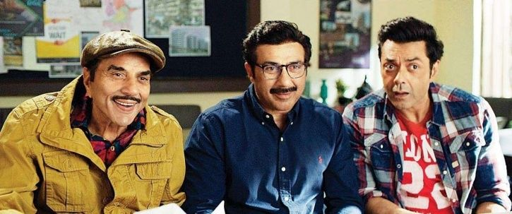 A picture of Deols from Yamla Pagla Deewana.