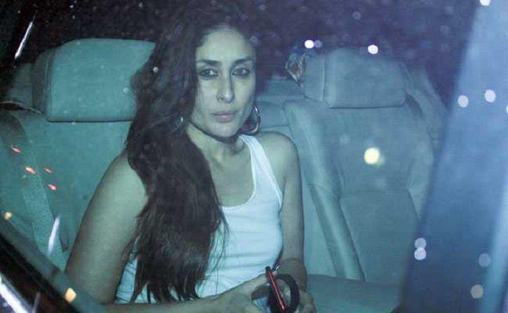 A picture of Kareena Kapoor arriving at Ranbir Kapoor