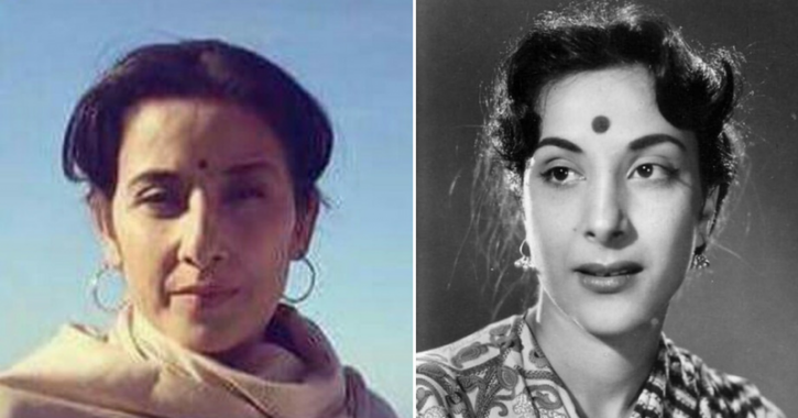 A picture of Manisha Koirala from Sanju and Nargis Dutt.