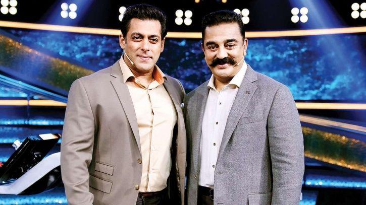 A picture of Salman Khan and Kamal Haasan.