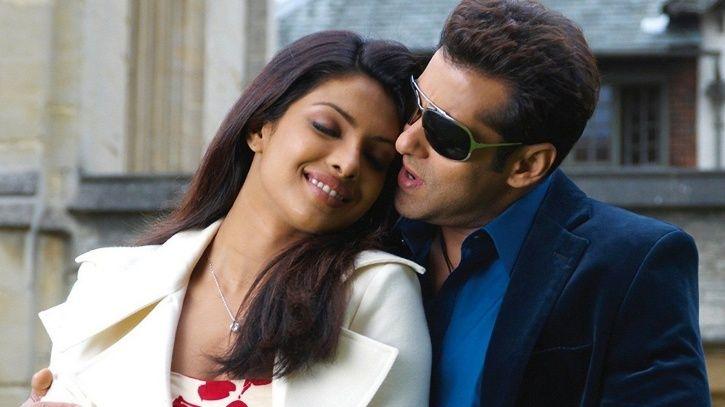 A picture of Salman Khan and Priyanka Chopra.