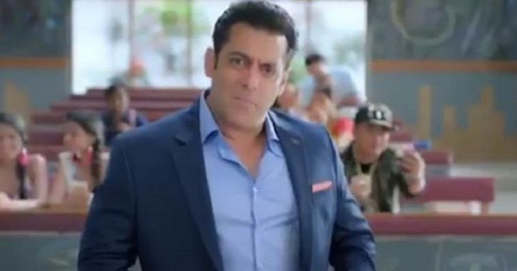 A picture of Salman Khan from Bigg Boss 12 promo.
