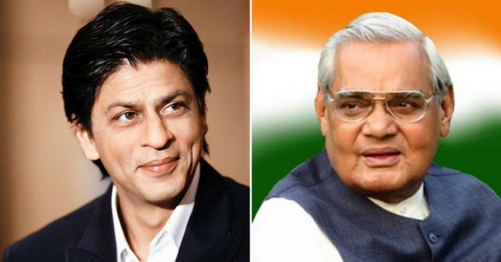 A picture of Shah Rukh Khan and Atal Bihari Vajpayee.