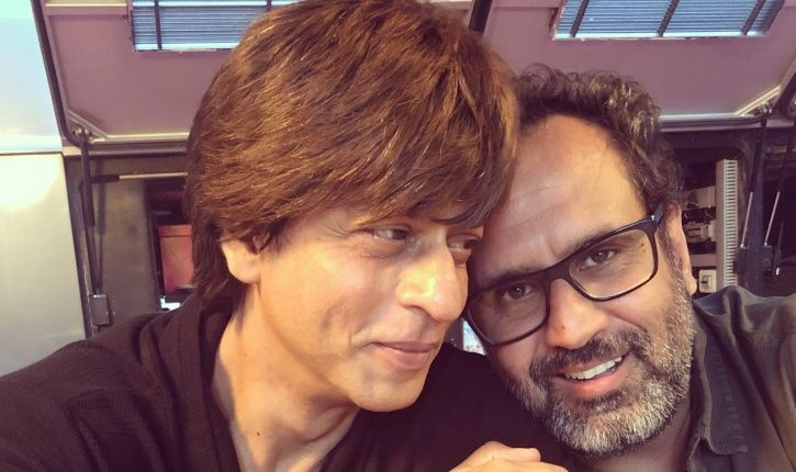 A picture of Shah Rukh Khan will Anand L Rai.