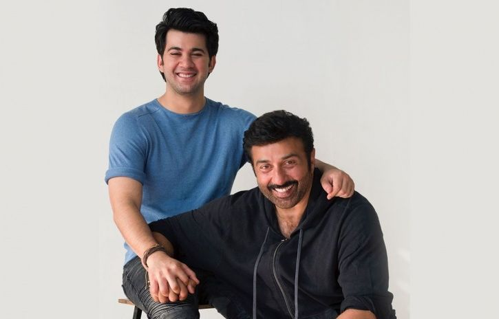 A picture of Sunny Deol with son Karan Deol, who is set to make his debut in Pal Pal Dil Ke Paas.
