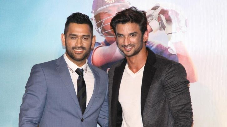 A picture of Sushant singh Rajput with MS Dhoni,.