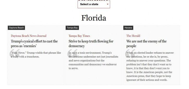 American media, U.S President, Donald Trump, The Boston Globe, The New York Times, fake news