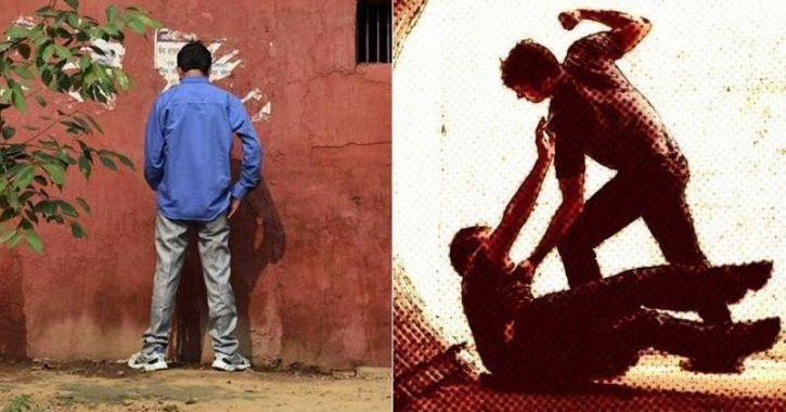 delhi man Urinating In Open In Delhi