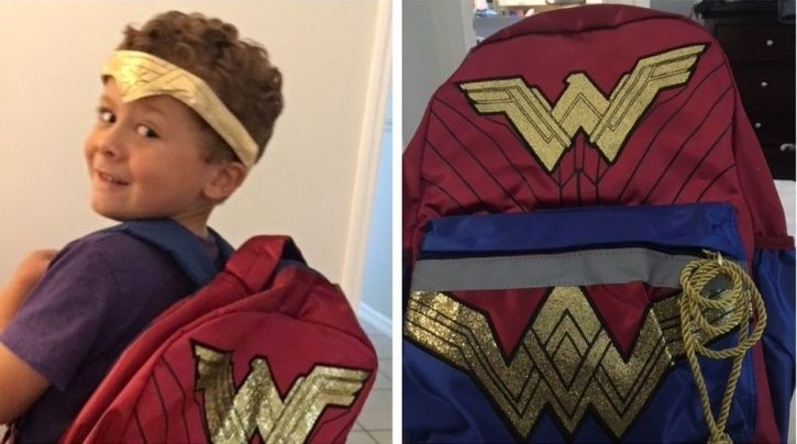 Gal Gadot Supports 5-YO Boy Who's Breaking Gender Stereotypes By Choosing A Wonder Woman Backpack Fo