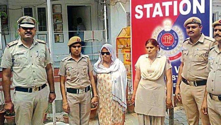 lady don, Basiran, Sangam Vihar, Miraj, arrest, police officials