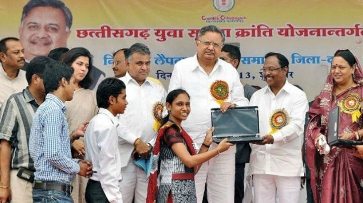 Laptops Given By Chhattisgarh Government  To Teachers To Mark Attendance Show Obscene Pictures