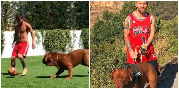 Lionel Messi took on his own dog