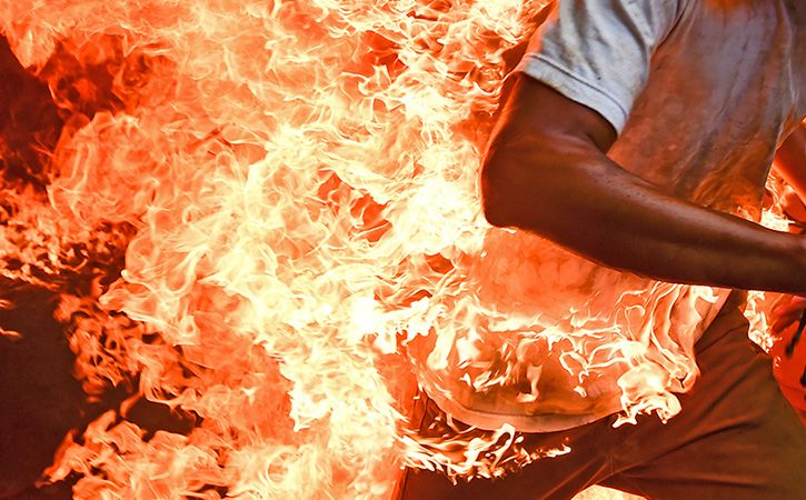 Man Sets Himself On Fire After Wife Refuses To Return Home