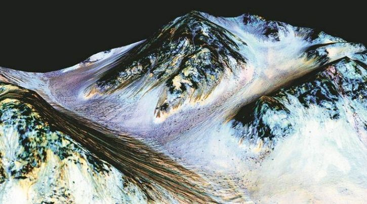 Mars, red planet, water body