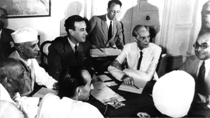 Meeting of the Viceroy with the Indian Leaders on 3 June 1947