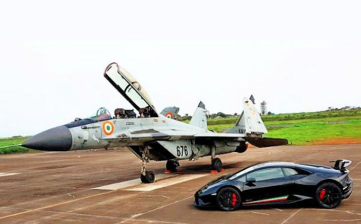 MiG 29k Squares Off Against Italian Supercar In Drag Race At Goa Airport