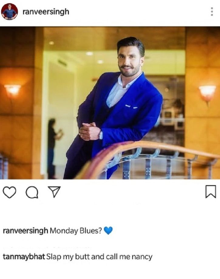 Move Over Deepika Padukone, Tanmay Bhatt's Comments On Ranveer Singh's Photos Will Leave You In Spli