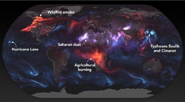 NASA aerosol map