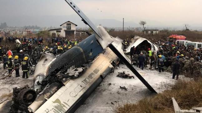 Nepal, US-Bangla airliner, cockpit, smoked, report, mental stress