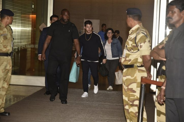 Nick Jonas arrives with his family in India.
