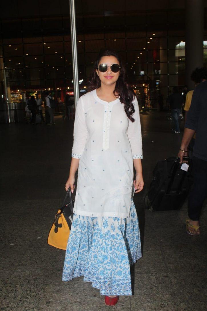 Parineeti Chopra has arrived in Mumbai at Priyanka Chopra