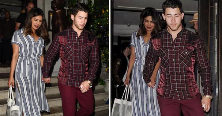 Priyanka Chopra and Nick Jonas are always holding hands.