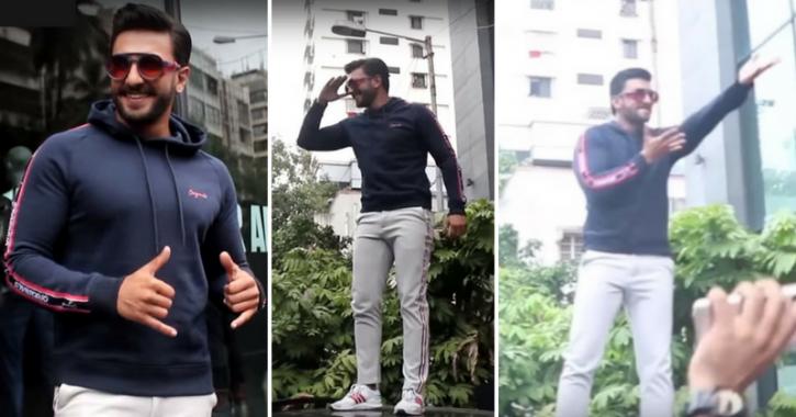 Ranveer Singh Breaks Into An Impromptu Dance Atop A Car & Fan Couldn't Help But Say 'Waah Baba'