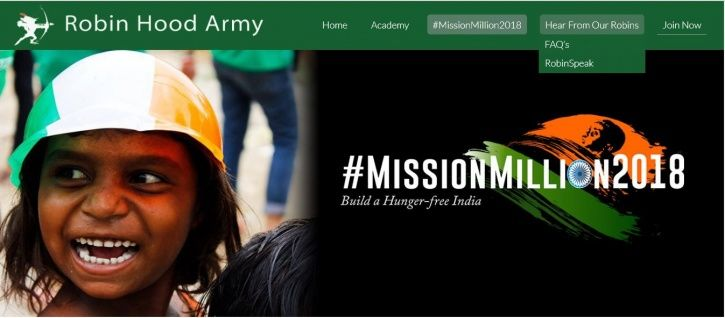 Robin hood army, NGO, Delhi, Independence Day, August 15, Mission Million 2018