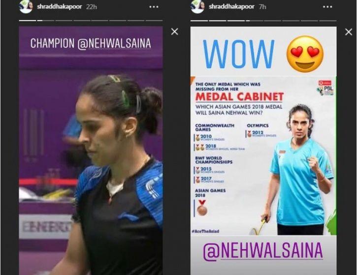 Saina Nehwal Wins Bronze Medal In Asian Games, Shraddha & Anil Kapoor Laud Her Historic Win