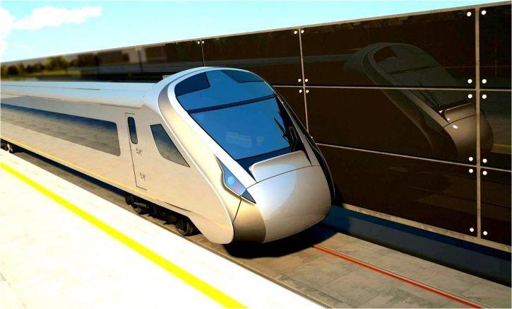 Semi high speed train, Make In India, Train 18, trial test, September