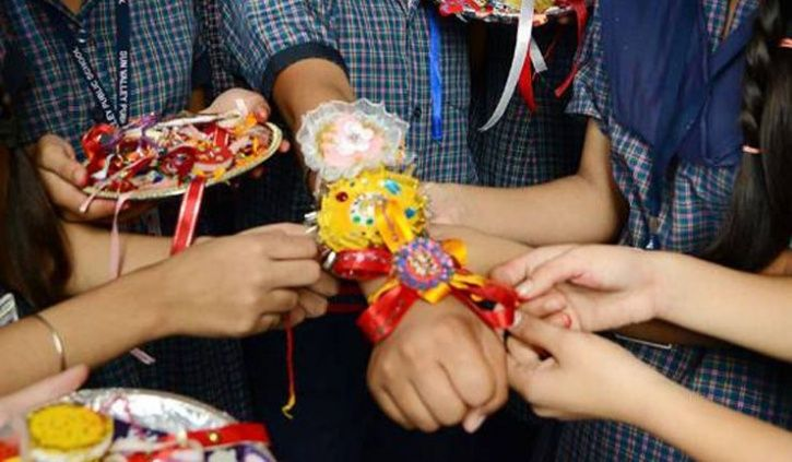 Shelter Homes Children celebrate Rakhi