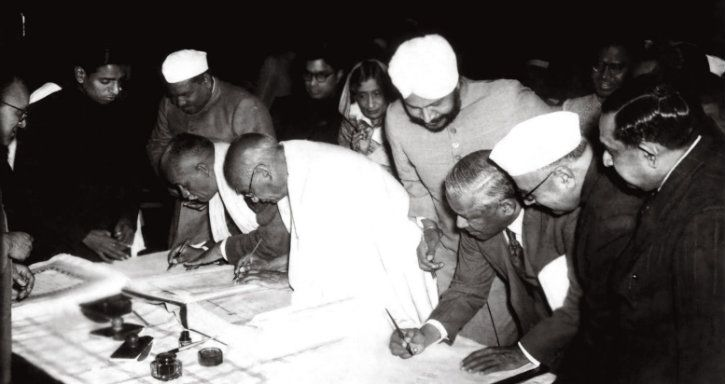 Signing of the Constitution Of India