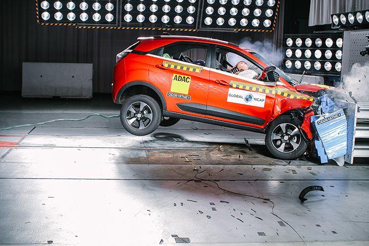 Tata Nexon crash test picture four stars