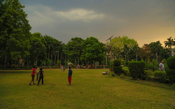 Wonders Of World At A Park In Delhi