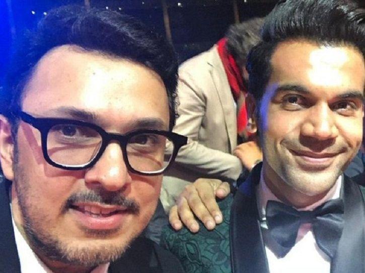 A picture of Dinesh Vijan and Rajkummar Rao.