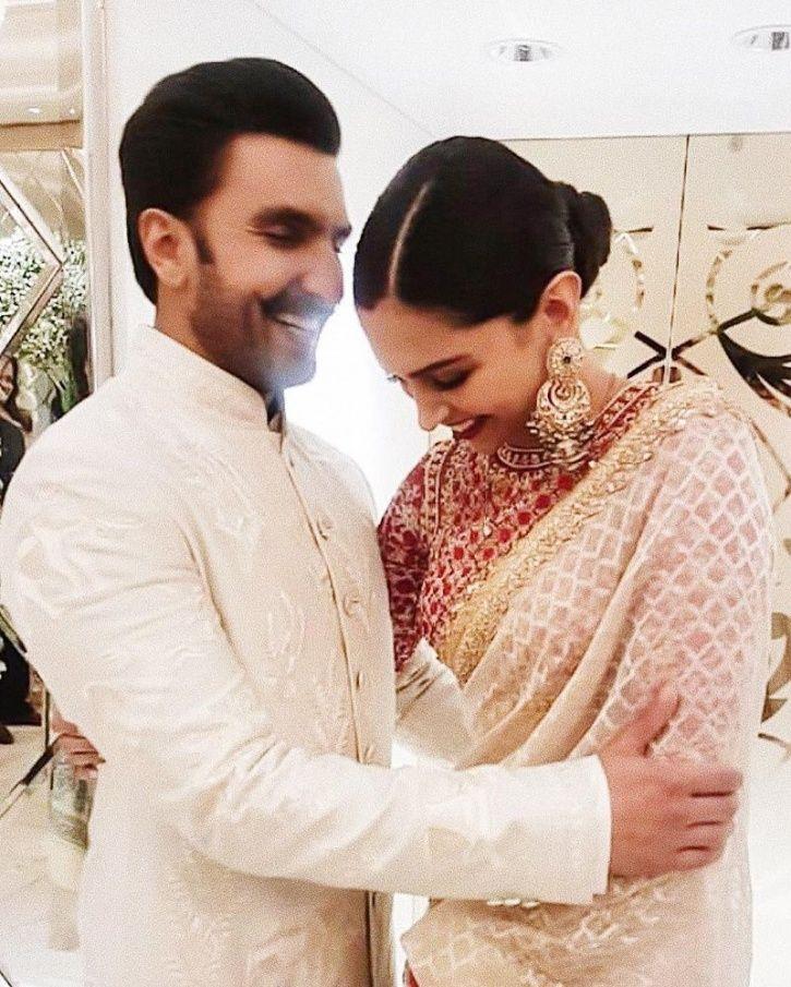 A picture of Ranveer Singh and Deepika Padukone.