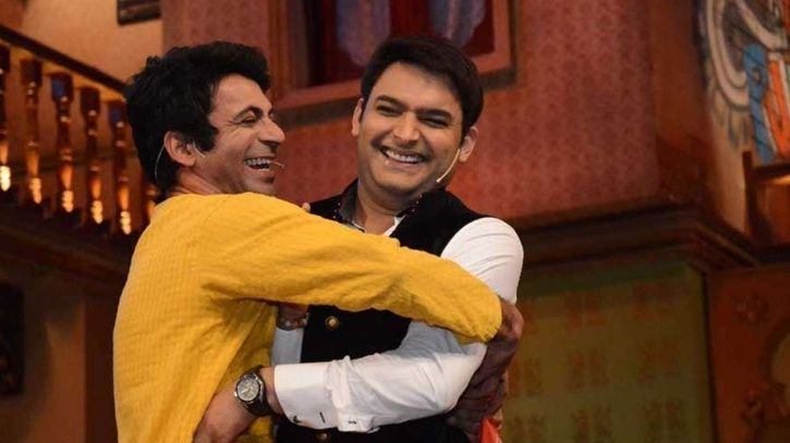 An old picture of Sunil Grover and Kapil Sharma from The Kapil Sharma Show.