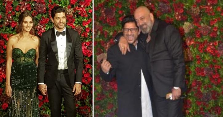 Celebrities at Deepika Padukone and Ranveer Singh