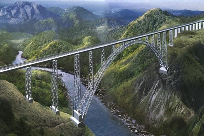 Chenab bridge, railways, Kashmir, Udhampur, highest bridge, Bakkal, Kauri, DRDO