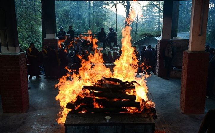 cremation of dead people