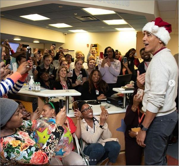 Former U.S President, Barack Obama, Christmas, Children