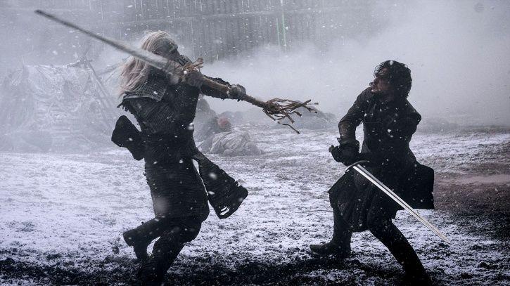 Game of Thrones season 8 theories: Jon Snow and Night King.